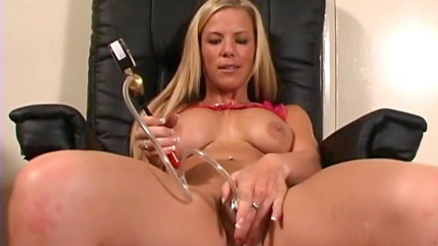 Awesome blonde pornstar she s stimulating her pussy